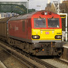 92009 hauls 6D35 Wembley - Dollands Moor cargowaggons through Wandsworth Road on 21/01/12