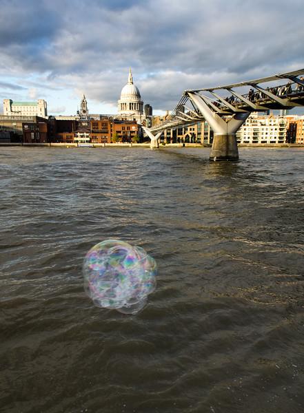 Bubbles by the bridge