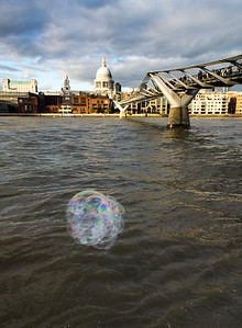 Bubbles by the bridge