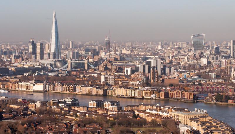 East London cityscape