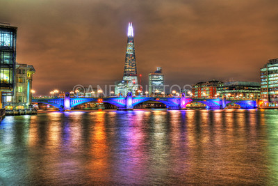 The Shard and Southwark Bridge at Night