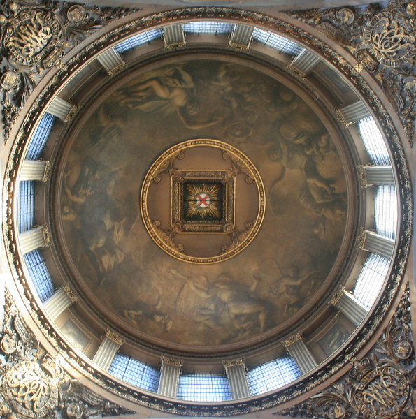 Dome, Royal Naval college banqueting hall, Greenwich.
