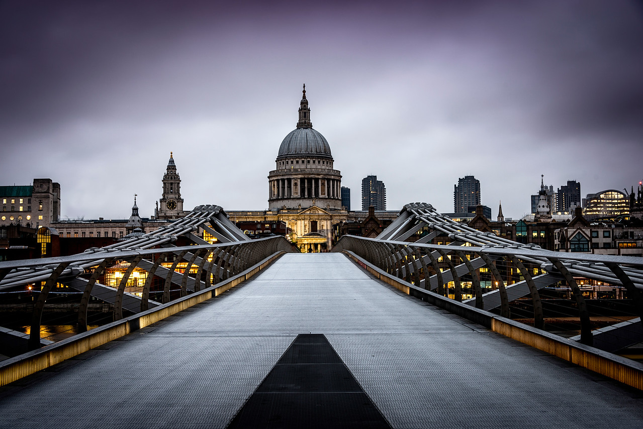 St. Paul's Cathedral and the Millenium Bridge.