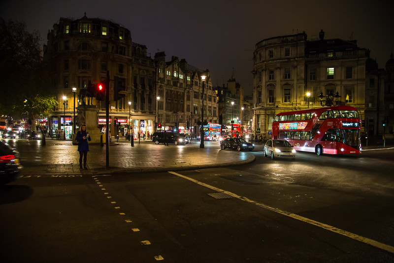 London Round-a-bout at Night