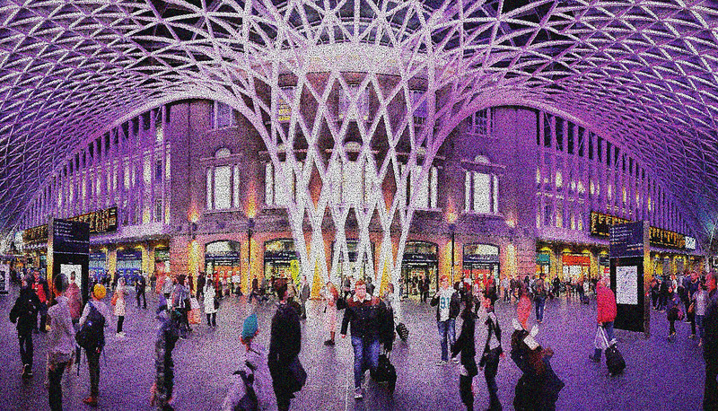 Georges Seurat at King's Cross Station. 2015.