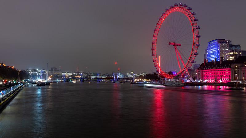 London Eye and Thames cityscape