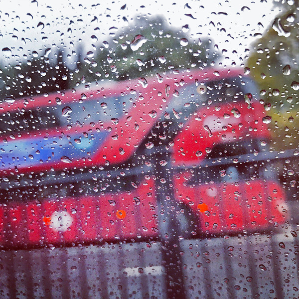 Double Decker Bus in the Rain. 2016.