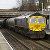 66623 hauls 6M92 West Thurrock - Earles cement tanks through Upper Holloway at 13.39 on 21/01/12