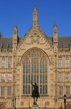 South window of Westminster Hall, Palace of Westminster.