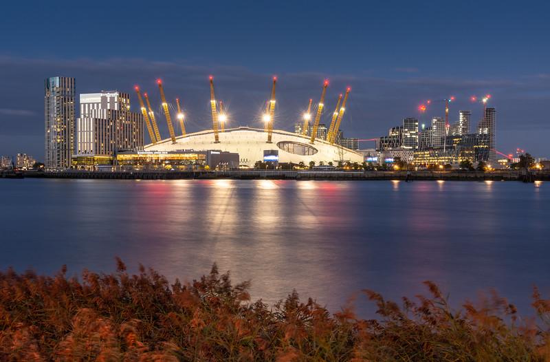 The O2 Millennium Dome at dusk