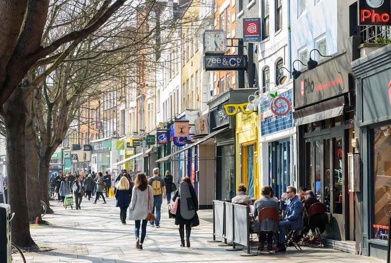 Shops on Islington Upper Street