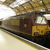 67025 sits on the stops at London Victoria after bringing in the ECS for the VSOE to Bathon 21/01/12
