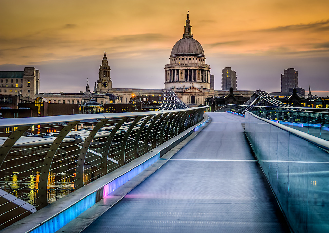 Millennium Bridge and St Paul's