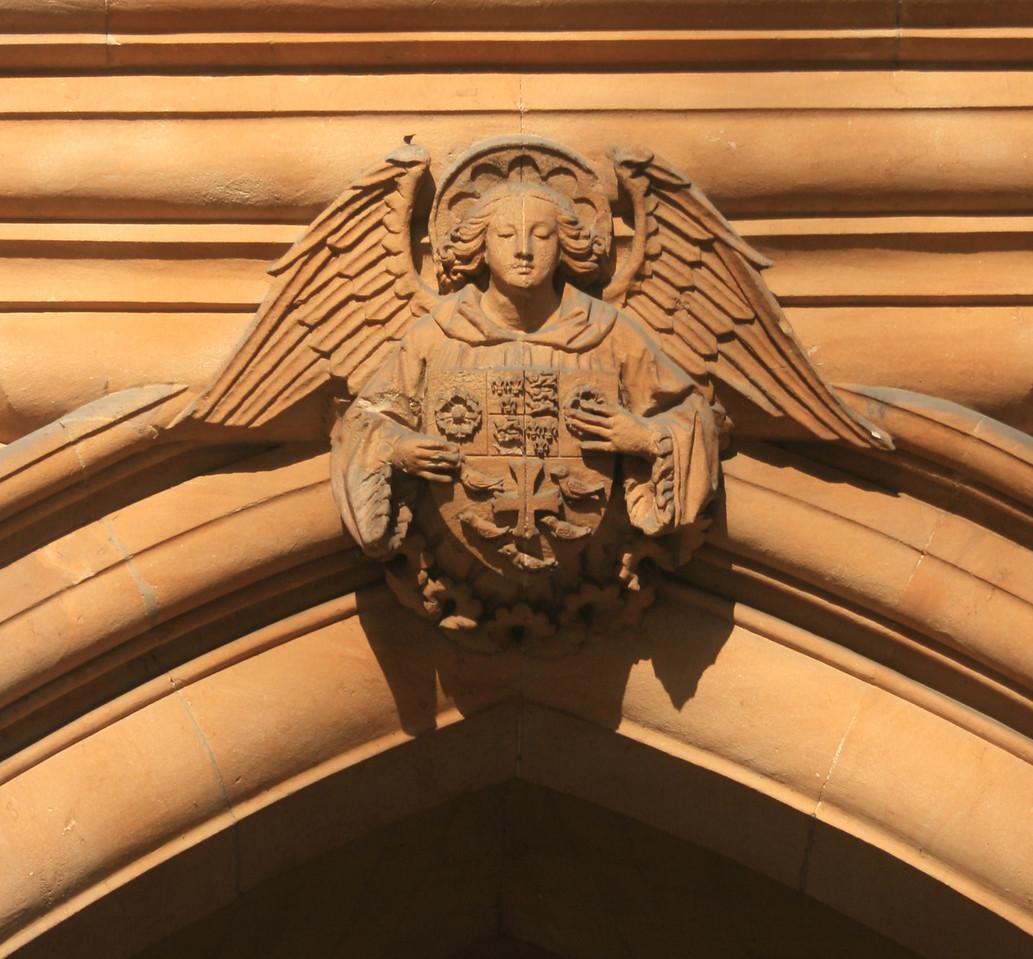 Sculpture, Deans Yard, Westminster Abbey.