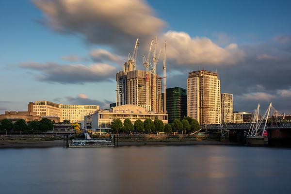 Construction at London's South Bank
