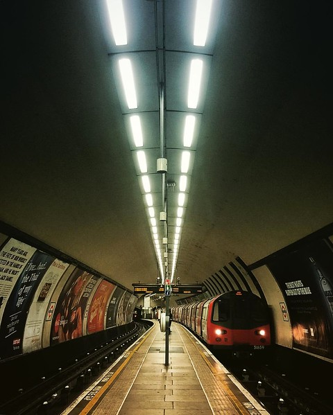 Clapham Common Station from the Platform. 2016.