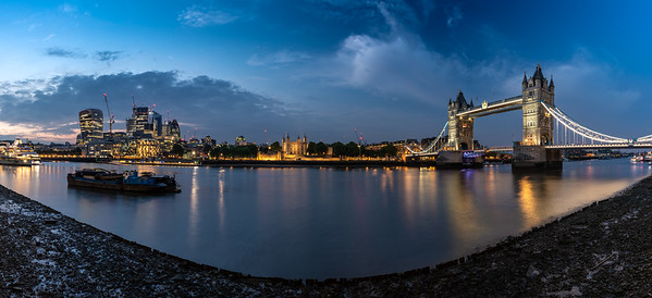 Tower Bridge and the City of London skyline