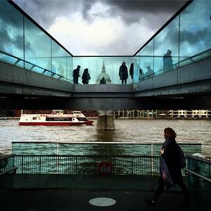 The South Bank, Millennium Bridge, St Pauls Cathedral. London