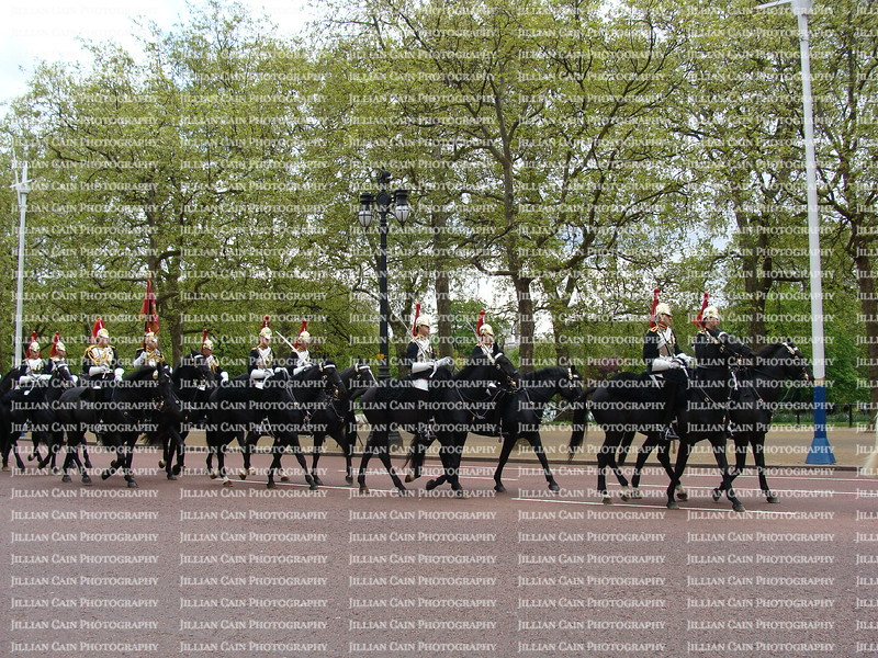 The Queen's horse guards at Buckingham Palace