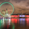 London Eye on St. Patrick's Day