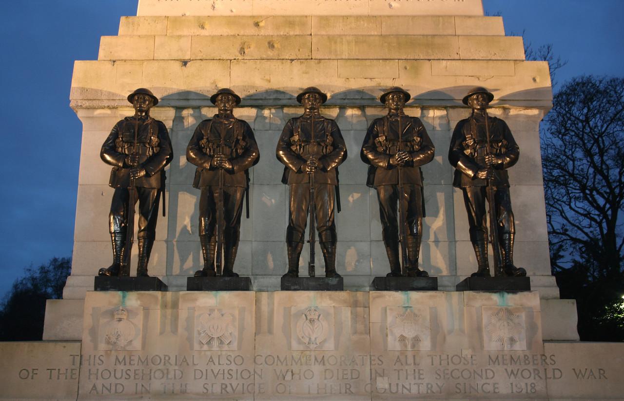 Guard's division memorial,  Horseguards Parade.