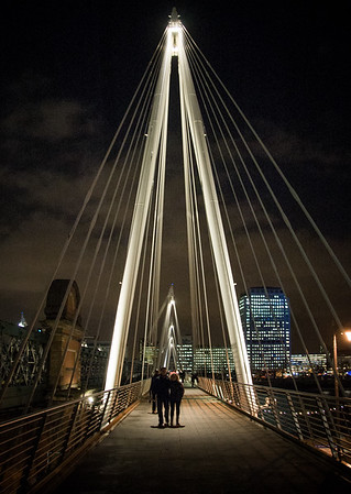 Pedestrians on Jubilee Bridge