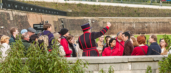 Tower Guide in Beefeater Regalia