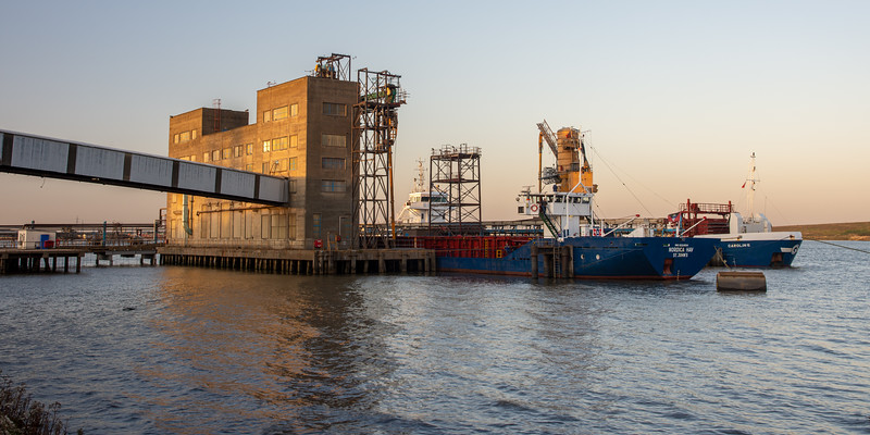 Grain silo on the Thames Estuary