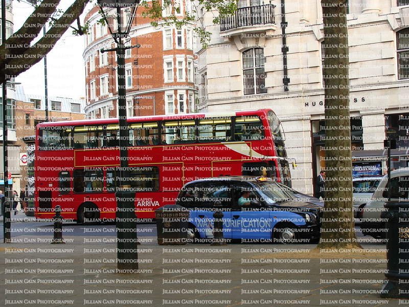 Double Decker bus and mini car