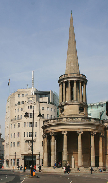 Broadcasting House and All Souls, Langham Place.