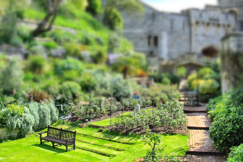Bench and Garden, Windsor Castle