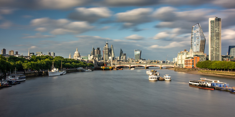 River Thames and City of London skyline