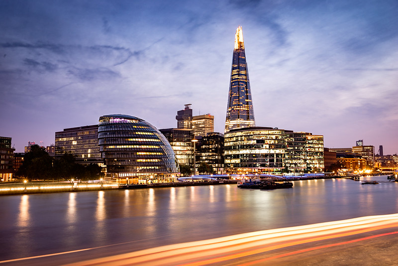 The Shard and City Hall at Night.