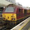67017 'Arrow' backs down onto 1Z91 London Victoria - Bath Spa VSOE at London Victoria 21/01/12