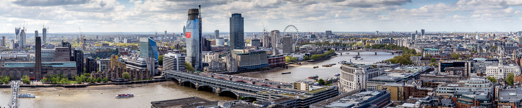 Pano from St Paul's Cathedral Golden Gallery