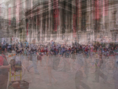 Trafalgar Square National Portrait Gallery composite