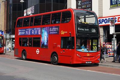 E 213-SN61 DDK in Bromley Town Centre.