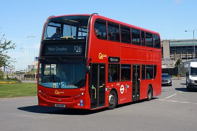 E 217-SN61 DDV at Hatton Cross, London Heathrow.