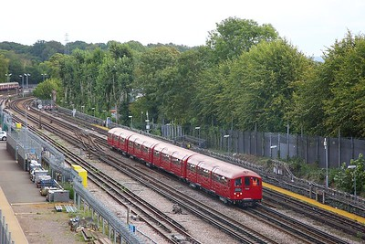 1938 Tube Stock, Train 746 working 1127 Watford to Amersham at Rickmansworth on the 9th September 2018