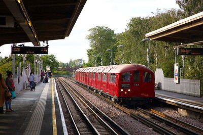 1938 Tube Stock consisting of A10012-012256-12048-D11012  forming train 746 working 1553 Amersham to Ealing Common at Alperton on the 9th September 2018