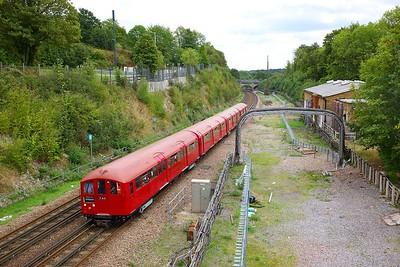 1938 Tube Stock forming train 746 1327 Watford to Amersham at Chorleywood on the 9th September 2018