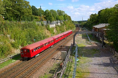 1938 Tube Stock forming train 746 1443 Amersham to Watford at Chorleywood on the 9th September 2018