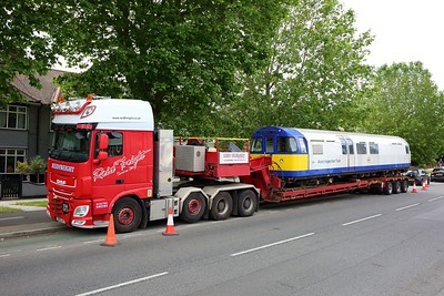3313 Asset Inspection Train on a low loader at Boston Manor on 25 June 2021 img4414  AssetInspectionTrain, LondonUnderground, MoveByRoad