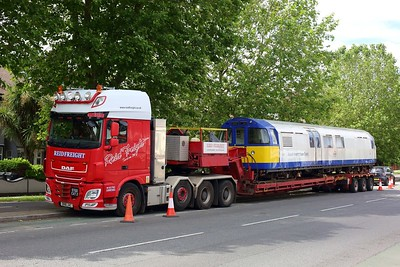 3313 Asset Inspection Train on a low loader at Boston Manor on 25 June 2021 img4368  AssetInspectionTrain, LondonUnderground, MoveByRoad