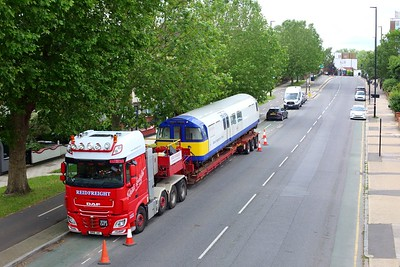 3313 Asset Inspection Train on a low loader at Boston Manor on 25 June 2021 img4485  AssetInspectionTrain, LondonUnderground, MoveByRoad