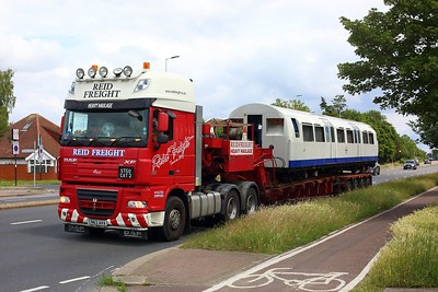 3179 part of the Asset Inspection Train heads for the M4 on 25 June 2021  AssetInspectionTrain, LondonUnderground, MoveByRoad