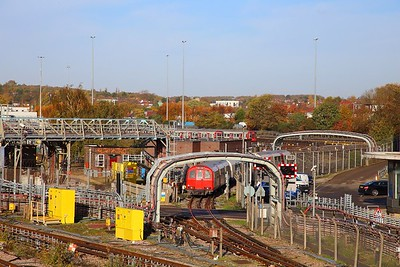 Track Recording Train No  767 departs Neasden depot heading south on the 8th November 2018  It would later end up at Northfields depot