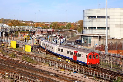 Track Recording Train No  767 departs Neasden depot heading south on the 8th November 2018  It would finish later at Northfields depot