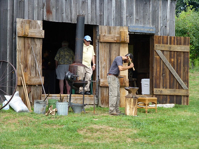 Blacksmith demonstrations at the Clark Blacksmith Shop.