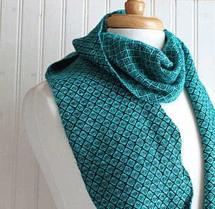 This lovely scarf handwoven in silk and merino wool by Kate Kilgus, the Nutfield Weaver, will be one of the silent auction items to benefit the Londonderry Historical Society.